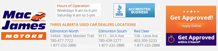 Mac James Motors >> Mac James Motors Edmonton North Edmonton Ab Search Used